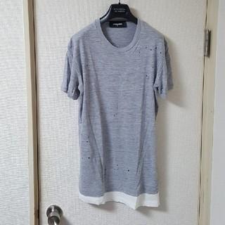 ディースクエアード(DSQUARED2)の正規品ディースクエアードレイヤードTシャツS(Tシャツ/カットソー(半袖/袖なし))