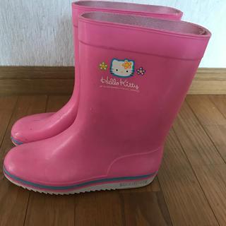 アサヒシューズ(アサヒシューズ)の【キティちゃん】「21.5センチ」長靴(長靴/レインシューズ)