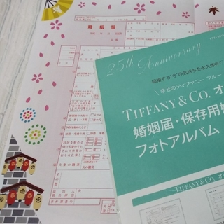 TIFFANY&Co.婚姻届セット