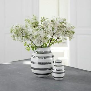 ケーラー(Kahler)のケーラー オマジオ フラワーベース シルバー Mサイズ(花瓶)