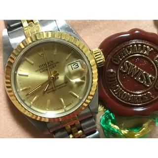 ロレックス(ROLEX)のROLEX ロレックス YGベゼル レディース 腕時計(腕時計)