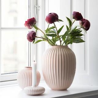 ケーラー(Kahler)のケーラー ハンマースホイ フラワーベース ローズ Lサイズ(花瓶)