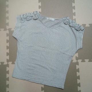 クチュールブローチ(Couture Brooch)の【使用少】クチュールブローチ リボントップス38 Tシャツアナトリエイエナ(カットソー(半袖/袖なし))