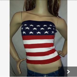アナップラティーナ(ANAP Latina)のANAP USA アメリカ 国旗柄 ベアトップ 大きいサイズ(ベアトップ/チューブトップ)