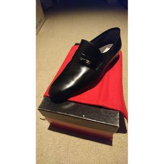 セリーヌ(celine)のCELINE セリーヌ紳士靴 キッドスキン 底皮 ブラック 25cm 新品未使用(ドレス/ビジネス)