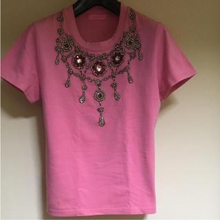 アバハウス(ABAHOUSE)のABAHOUSE REVISITATION ラインストーン ピンク Tシャツ(Tシャツ(半袖/袖なし))
