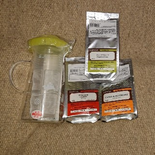 ルピシア(LUPICIA)のLUPICIA オリジナルハンディクーラー1/2とリーフティ4種類&おまけ付き(茶)