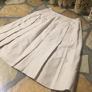 フォクシー(FOXEY)のフォクシー FOXEY boutique シルク混 フレアスカート 38(ひざ丈スカート)