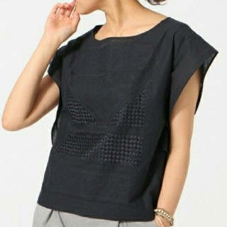 グローバルワーク(GLOBAL WORK)のグローバルワーク 刺繍フレアスリーブ トップス(カットソー(半袖/袖なし))