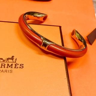 Hermes - 【美品 正規品】エルメス バングル レザー ブレスレット H シェールダンクル