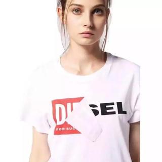 ディーゼル(DIESEL)のDIESEL 新品未使用 ボックスロゴ L ホワイト(Tシャツ(半袖/袖なし))