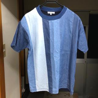グローバルワーク(GLOBAL WORK)の美品 デニムシャツ Sサイズ(Tシャツ/カットソー(半袖/袖なし))