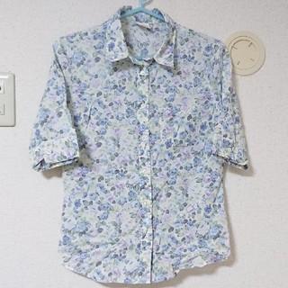 アロー(ARROW)のarrow 花柄♡五分袖シャツ レストローズ、リズリサ、ロディスポット(シャツ/ブラウス(半袖/袖なし))