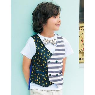 チェスティ(Chesty)のchesty petit パイナップル×ボーダーTシャツ(Tシャツ/カットソー)