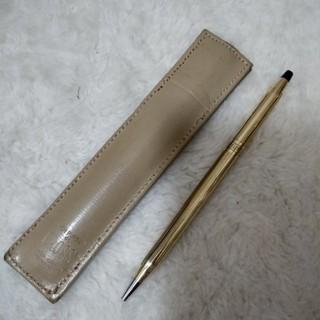 本物 クロス 10KT  ボールペン ゴールドケース付き 回転式 筆記確認済