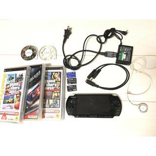 プレイステーションポータブル(PlayStation Portable)のPSP本体 ソフト 付属品セット(携帯用ゲーム本体)