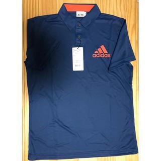 アディダス(adidas)の新品タグ付 アディダス ゴルフ用ポロシャツ Lサイズ ネイビー(ウエア)