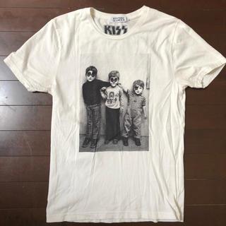 ヒステリックグラマー(HYSTERIC GLAMOUR)のKISS コラボ Tee ヒステリックグラマー Tシャツ 白 S 15SS(Tシャツ/カットソー(半袖/袖なし))