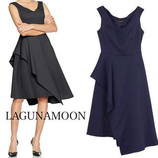ラグナムーン(LagunaMoon)のLAGUNAMOON アシンメトリー ドレス(ミニワンピース)
