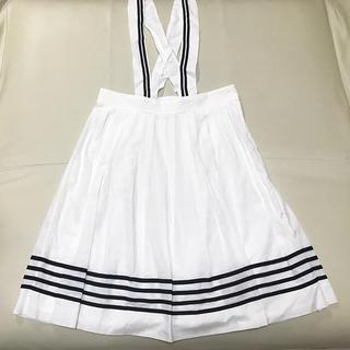 ジェーンマープル(JaneMarple)のマリンボーダースカート カットソーセット(ひざ丈スカート)