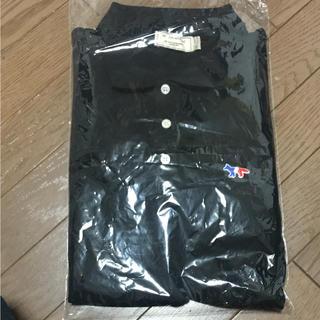 メゾンキツネ(MAISON KITSUNE')のmaison kitsune メゾン キツネ ポロシャツ ブラック S(ポロシャツ)