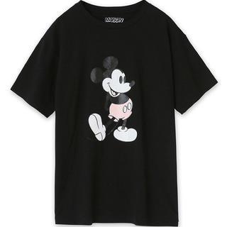 メゾンドリーファー(Maison de Reefur)のメゾンドリーファー ミッキー コラボ Tシャツ 黒 新品(Tシャツ(半袖/袖なし))