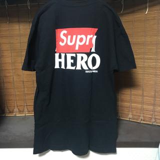 シュプリーム(Supreme)のsupreme antihero tシャツ シュプリーム Lサイズ ブラック 黒(Tシャツ/カットソー(半袖/袖なし))