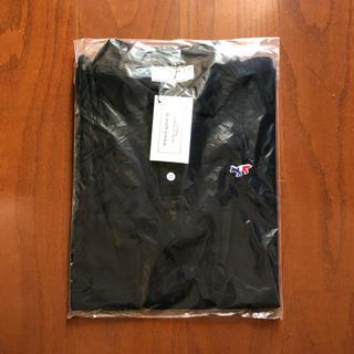 メゾンキツネ(MAISON KITSUNE')のKITSUNEMAISON  メゾンキツネ  ポロシャツ  ブラック M(ポロシャツ)