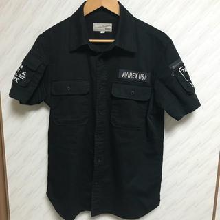 アヴィレックス(AVIREX)のAVIREX アヴィレックス 半袖シャツ L 黒 ブラック ファティーグ(シャツ)
