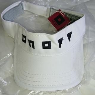 オノフ(Onoff)のONOFFサンバイザー+非売品ポーチ(キャップ)