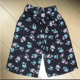 しまむら - バースディ 花柄ワイドパンツ 子供服 女の子 80cm 1歳