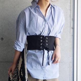 ラボラトリーワーク(LABORATORY WORK)のコルセット付きビッグシャツ(シャツ/ブラウス(長袖/七分))