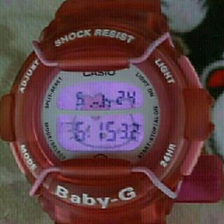 ベビージー(Baby-G)のBaby-G  320  カスタム染色ローズピンク ハローキティ(腕時計)