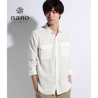 ナノユニバース(nano・universe)のナノユニバース シャツ 七分袖  新品タグ付き!(シャツ)