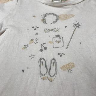 ボンポワン(Bonpoint)のボンポワン 長袖Tシャツ 6 ノエル ラメ 香水 白 110(Tシャツ/カットソー)