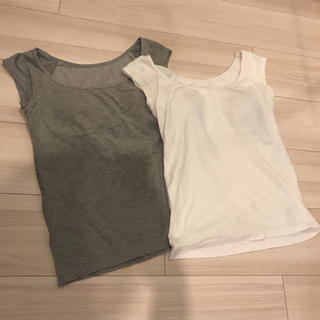 ムジルシリョウヒン(MUJI (無印良品))の〈buu様専用〉無印良品 カップ付きインナー サイズS(Tシャツ(半袖/袖なし))