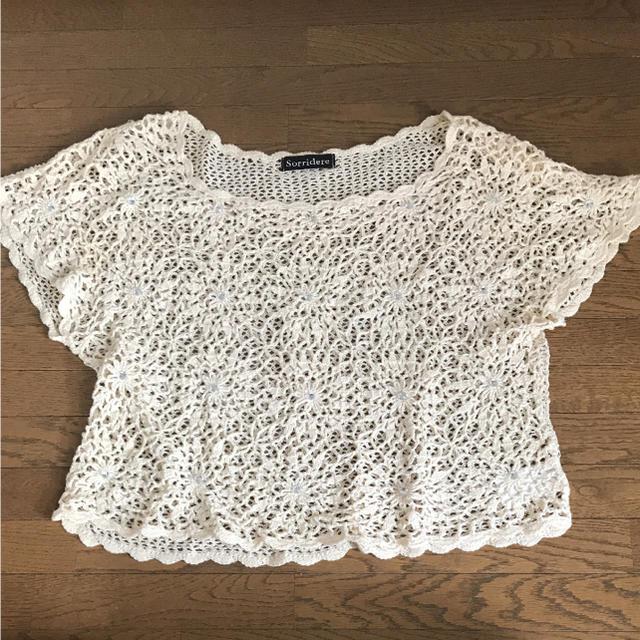 しまむら(シマムラ)のかぎ編みトップス レディースのトップス(カットソー(半袖/袖なし))の商品写真