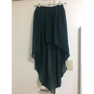 ザラ(ZARA)のZARA ダークグリーン シフォン スカート sizeM (ミニスカート)