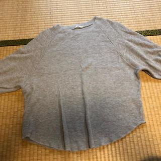 ジーユー(GU)のGu ワッフルラグランスリーブT(シャツ/ブラウス(半袖/袖なし))
