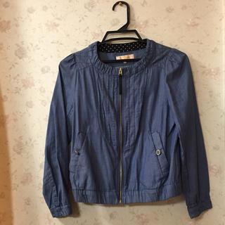 ミニマム(MINIMUM)のMINIMUM ジャケット 春服 青 新品未使用(ノーカラージャケット)