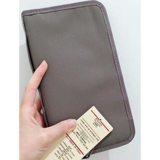 ムジルシリョウヒン(MUJI (無印良品))の無印良品♪パスポートケース グレー☆新品(旅行用品)
