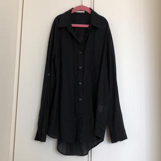 マウジー(moussy)の美品♡マウジー♡ブラックシャツ♡(シャツ/ブラウス(長袖/七分))