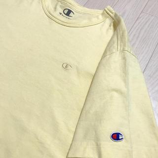 チャンピオン(Champion)のチャンピオン Tシャツ 黄色 Mサイズ メンズ ロゴマーク(Tシャツ/カットソー(半袖/袖なし))