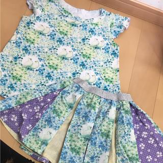 フェフェ(fafa)のフェフェ  セットアップ♡鳥さん柄110サイズ美品(Tシャツ/カットソー)