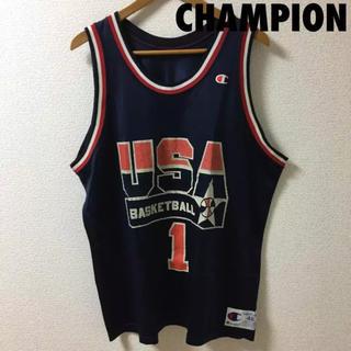 チャンピオン(Champion)の1519 NBA USA ドリームチーム ハーダウェイ ユニフォーム 1 紺(タンクトップ)
