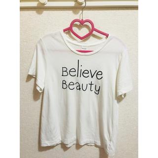 マウジー(moussy)のmossy シンプルTシャツ ホワイト フリーサイズ(Tシャツ(半袖/袖なし))