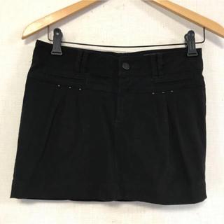 ザラ(ZARA)のZARA☆デザインBLACKスカート(ミニスカート)