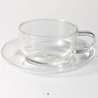 ムジルシリョウヒン(MUJI (無印良品))の無印良品の耐熱ティーカップソーサ 2セット(グラス/カップ)