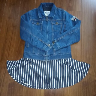 ジェニィ(JENNI)のジェニー♪Gジャン♪スカート♪150♪美品(ジャケット/上着)