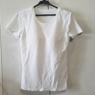 ユニクロ(UNIQLO)のUNIQLO ブラクルーネックTシャツ(半袖)(Tシャツ(半袖/袖なし))